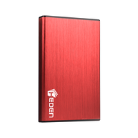 "Boitier externe HDD 2,5"" HEDEN USB 3.0 Rouge"