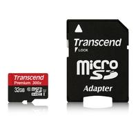 Micro SDHC TRANSCEND 32 Go 300X Classe 10 + Adaptateur