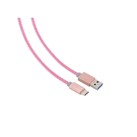Câble Tressé BLUESTORK USB 3.0 vers USB-C Rose