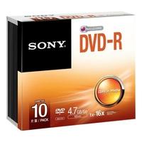 SONY DVD-R 4.7 Go 16x Pack de 10