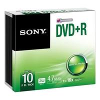 SONY DVD+R 4.7 Go 16x Pack de 10