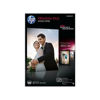 Papier photo brillant HP Premium Plus 10x15cm 25 feuilles