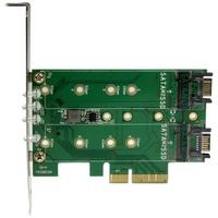 Carte PCIe 3.0 STARTECH pour SSD SATA et M.2