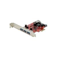 Carte PCI-E 3 ports USB 3.0 externes et 1 port interne