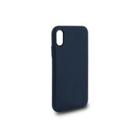 Coque en cuir MOOOV pour iPhone X et XS Bleu Marine