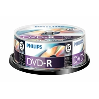 Pack de 10 DVD-R PHILIPS 4,7 GB 16x
