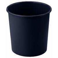 Corbeille à papier plastique BUDGET 18L Noire