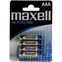 Blister de 4 piles MAXELL Alcalines AAA 1,5V