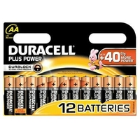 Blister de 12 piles DURACELL Alcalines AA 1,5V