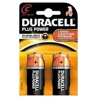 Blister de 2 piles DURACELL Alcalines Plus 1,5V LR14 E93C