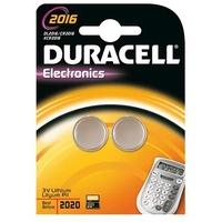 Blister de 2 piles DURACELL Lithium 3V CR2016