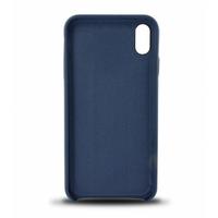 Coque en cuir MOOOV pour iPhone XR Bleu Marine