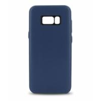 Coque en cuir MOOOV pour Samsung S8 Plus Bleu Marine