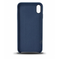 Coque en cuir MOOOV pour iPhone XS Max Bleu Marine