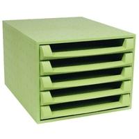 Caisson 5 tiroirs EXACOMPTA The Box Ouvert Vert Anis