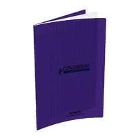 Cahier CONQUERANT 96 pages 17x22cm Séyes Violet