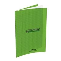Cahier CONQUERANT 48 pages 17x22cm Séyes Vert