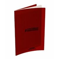 Cahier CONQUERANT 48 pages 17x22cm Séyes Rouge