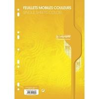 50 Feuilles mobiles CALLIGRAPHE A4 Grands carreaux Jaune