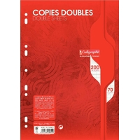 50 copies doubles CALLIGRAPHE A4 Grands carreaux