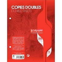50 copies doubles CALLIGRAPHE A5+ Grands carreaux