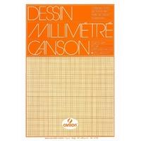 50 feuilles de papier millimétré CANSON A3 90g