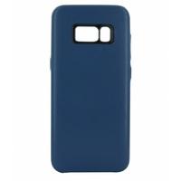 Coque en cuir MOOOV pour Samsung Galaxy S8 Bleu
