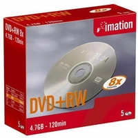 Pack de 5 DVD RW IMATION 4,7GB 8X