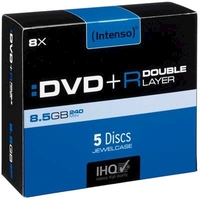 Pack de 5 DVD+R INTENSO 8,5GB 8X