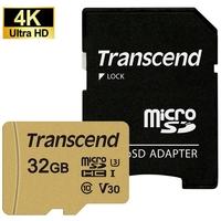 Micro SDHC TRANSCEND 500S 32 Go V30 Classe 10