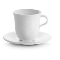 2 tasses DELONGHI DLS309 avec soucoupes blanches