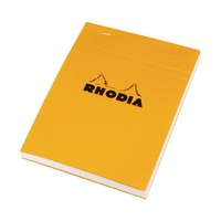 Bloc RHODIA N°16 Format A5 petits carreaux 5x5 Orange