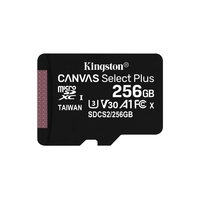Micro SDXC KINGSTON Canvas Select Plus 256 Go Classe 10