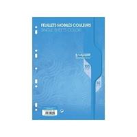 50 Feuilles mobiles CALLIGRAPHE A4 Grands carreaux Bleu