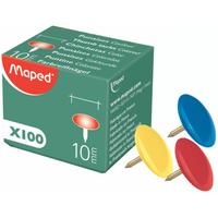 Boîte de 100 punaises MAPED Plastique couleurs