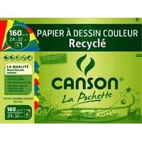 8 feuilles de papier CANSON couleurs vives 160g 24x32cm