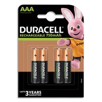Blister de 4 piles DURACELL rechargeables AAA 750 mAh