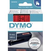 Ruban d'étiquette DYMO 9mm x 7m Noir sur Rouge