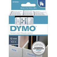 Ruban d'étiquette DYMO 12mm x 7m Bleu sur Blanc