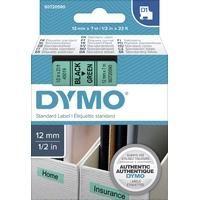 Ruban d'étiquette DYMO 12mm x 7m Noir sur Vert