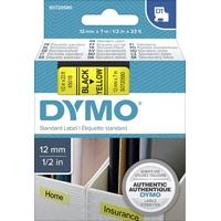 Ruban d'étiquette DYMO 12mm x 7m Noir sur Jaune
