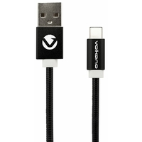 Câble VOLKANO USB 2.0 vers Type-C 1,2m Noir