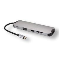 Station d'accueil MCL Multi-ports USB-C 10en1 HDMI VGA