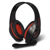 Casque micro SOG PRO-H5 filaire Rouge