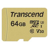 Micro SDXC TRANSCEND 500S 64 Go Class10 V30