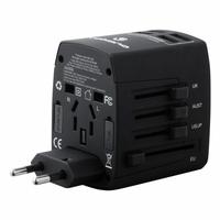 Adaptateur de voyage VOLKANO VK-8018-BK 4 ports USB