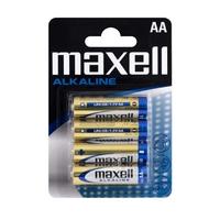 Blister de 4 piles MAXELL Alcalines LR6 AA 1,5V