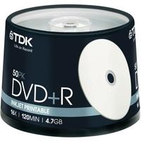 DVD+R TDK 16x 4.7GB pack de 50 Printable