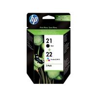 Cartouche d'encre HP 21-22 Pack Noir et Couleurs