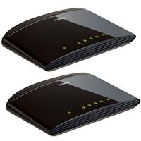 Switch 5 ports D-LINK DES-1005D 10/100 Mbps (Pack de 2)